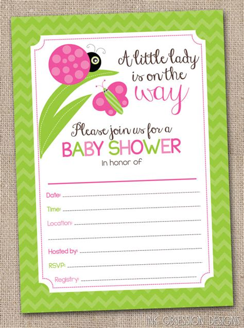 baby shower invitation lovely how to fill out a baby fill in baby shower invitations by inkobsessiondesigns