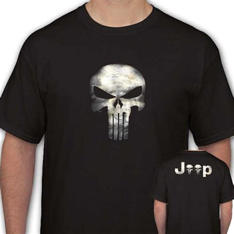 Tshirtt Shirtkaos Only In A Jeep only in a jeep punisher mens black t shirt s 2xl jeep punisher jeeps and black