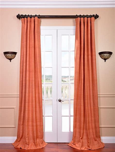 Terracotta Raw Silk Curtain Contemporary Curtains