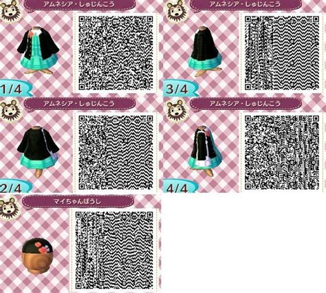 animal crossing new leaf qr code hairstyle 17 best images about acnl dress qr codes on pinterest
