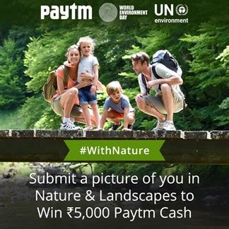 Free Contest To Win Money In India - win rs 5000 paytm cash in with nature challenge free