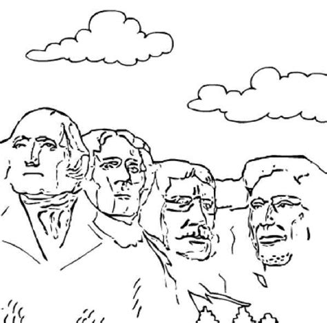 coloring page for mount rushmore mt rushmore colouring pages