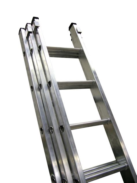 three section ladders industrial aluminium extension ladder three section push