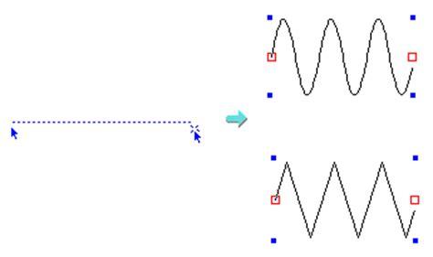 Hana Silver 3cm 設定した波長 振幅の波線 040072 波線 折れ線を描く