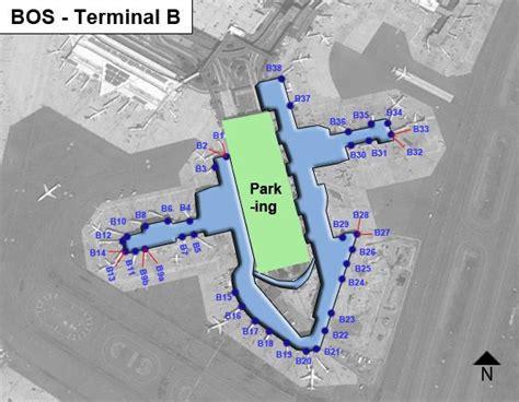 terminal b logan map boston logan airport bos terminal b map