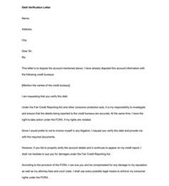 debt validation template debt letter template 10 sles for word pdf