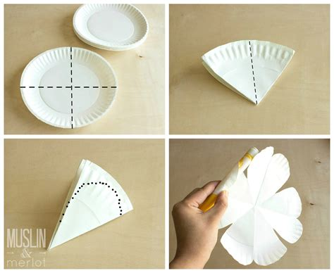 How To Make A Phlet Out Of Paper - paper plate flowers muslin and merlot