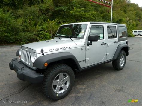 jeep rubicon silver 2012 bright silver metallic jeep wrangler unlimited