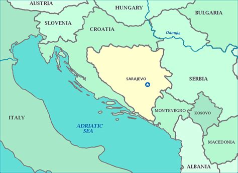 bosnia map map of bosnia and herzegovina shows cities rivers and corridor to the adriatic