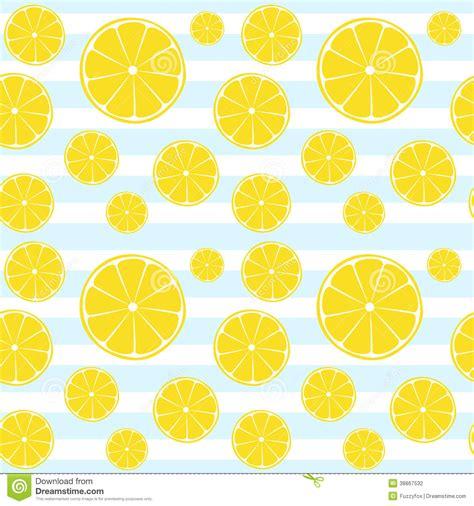seamless lemon pattern lemons slices blue white striped seamless pattern stock