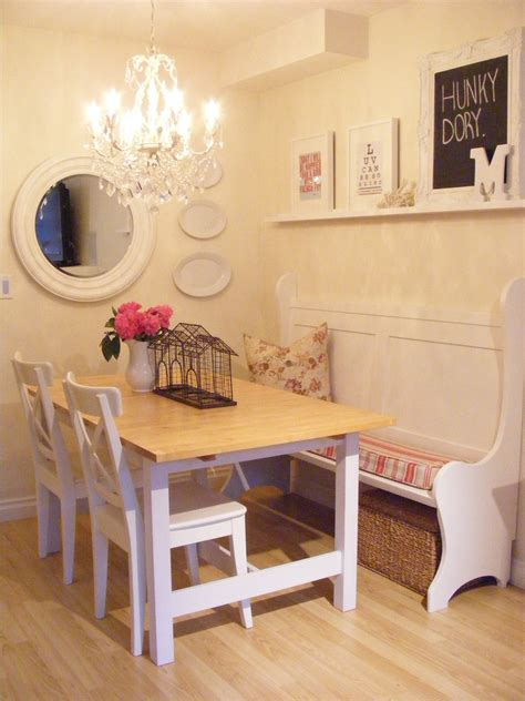 beautiful banquette benchin dining room shabby chic with