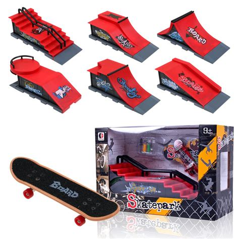 Skate Park 3pc Set Skateboard Finger Board Skate Park R Parts For Tech Deck Fingerboard Finger