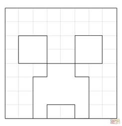 minecraft creeper face coloring free printable