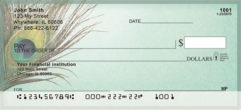 Confidential Background Check Shabby Chic Peacock Feathers Personal Checks