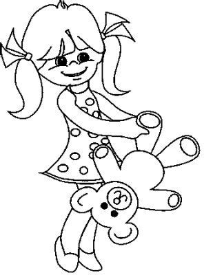 transmissionpress  girl  bear kids coloring pages