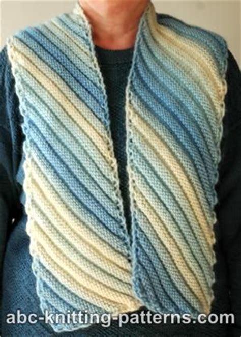 knitting pattern diagonal scarf abc knitting patterns diagonal scarf