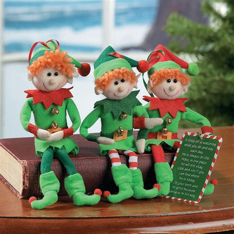 plush elf christmas ornaments oriental trading
