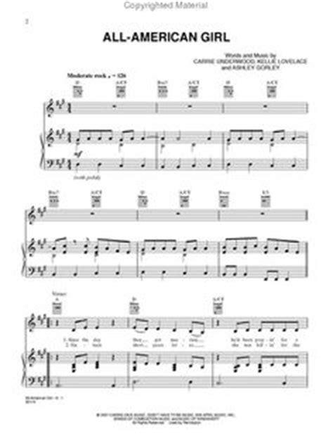 all american girl carrie underwood guitar chords carrie underwood sheet music jesus take the wheel