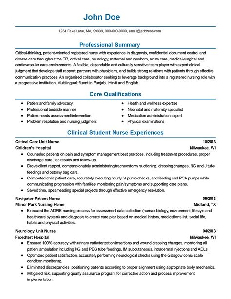 Neuro Resume Professional Neurology Templates To Showcase Your Talent Myperfectresume