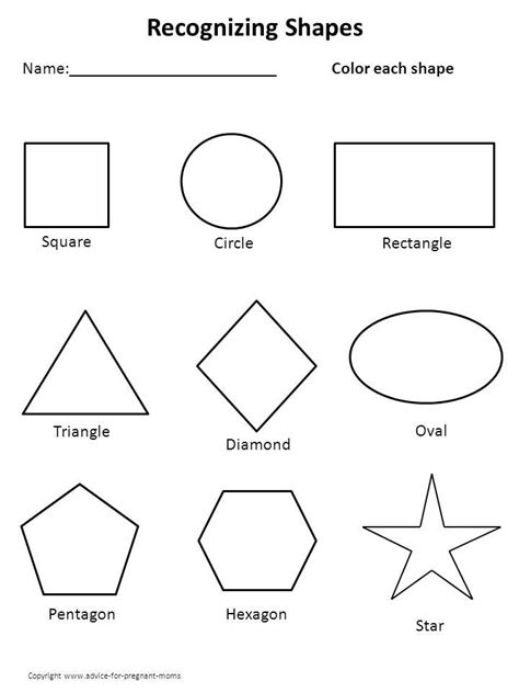 printable shapes shape help prreschool work sheets pinterest
