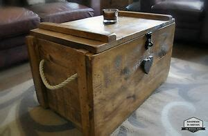rustic wooden chest trunk blanket box shabby vintage