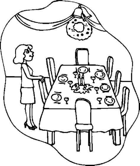 coloring page of a kitchen table cooking with mom in the kitchen coloring pages coloring