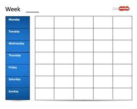 Power Point Calendar Template by Free Classic Weekly Calendar Template For Powerpoint