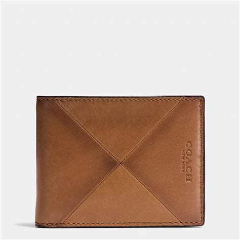 Coach Patchwork Wallet - coach slim billfold wallet in patchwork sport calf leather