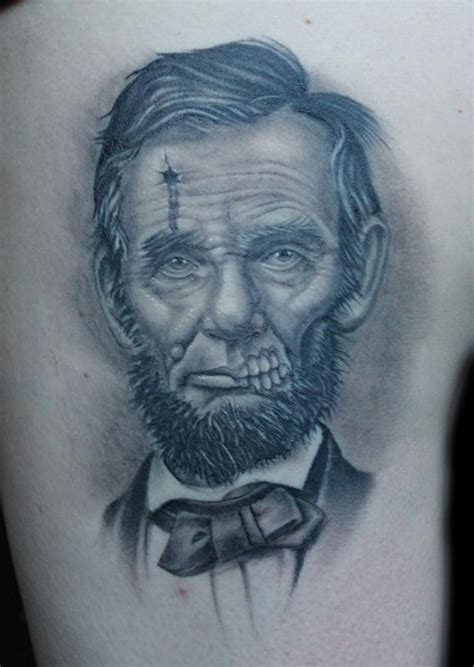 presidents with tattoos dead president abe lincoln by shane baker tattoos