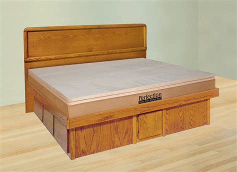 12 Drawer Bed Frame by Oak Platform Waterbed With 12 Quot Drawer Base Free Shipping
