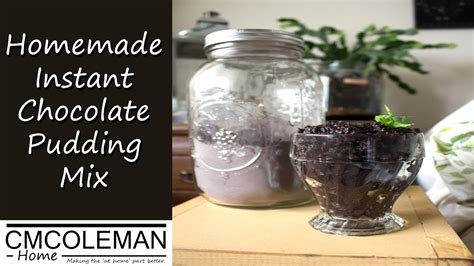 diy instant chocolate instant chocolate pudding mix