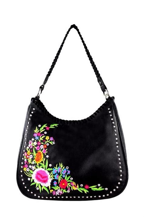 Wst 17777 Black Stitch Embroidered Top montana west embroidered floral handbag from by