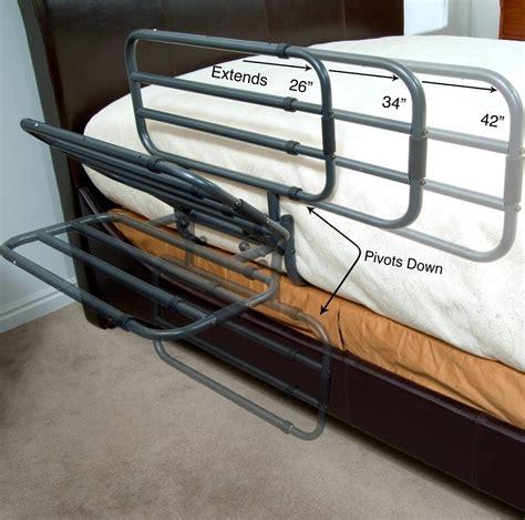 elderly bed rails adjustable hand rail bed assist safety ez folding medical