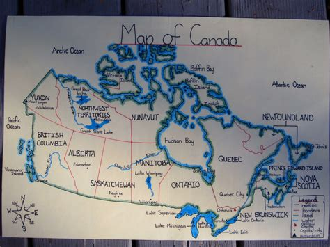 canadian map bodies of water runde s room maps