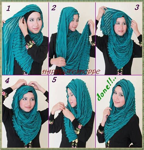 tutorial hijab syar i terbaru hijab tutorial hijab tutorial step by step pinterest