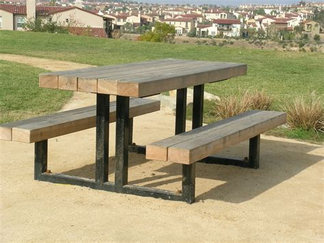metal picnic benches commercial metal picnic tables home ideas collection
