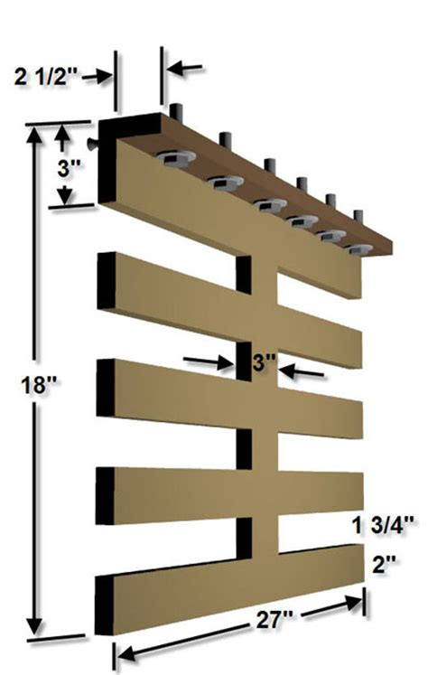 diy wooden tire storage rack plans diy woodworking projects