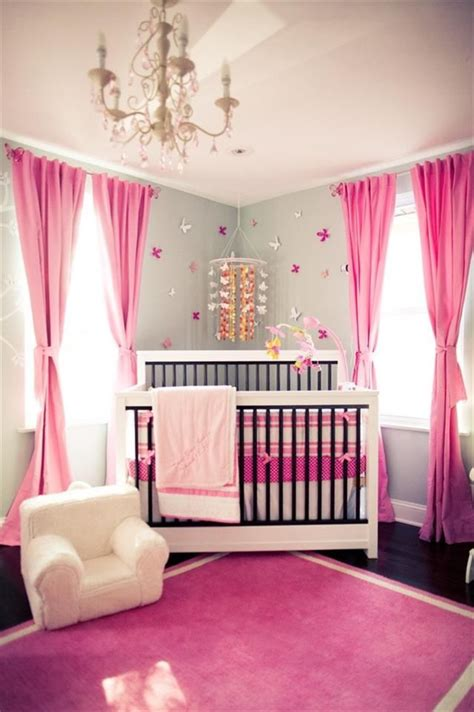 baby girl room bing gray and pink nursery baby pinterest