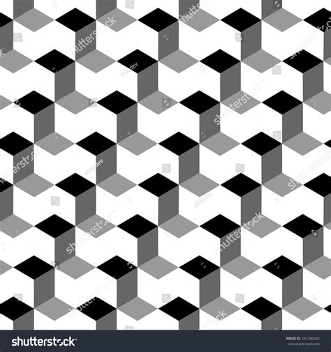 pattern cube vector vector cubes seamless pattern stock vector 333186245