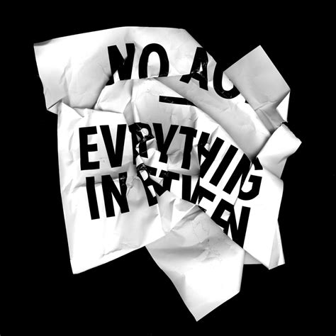 No Everything no age promotional and press on sub pop records