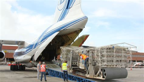 second air cargo flight takes carrying goats bunch cargo center