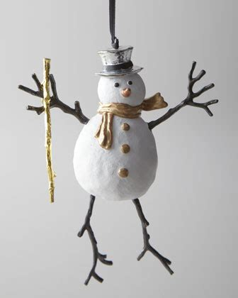 michael aram snowman christmas ornament