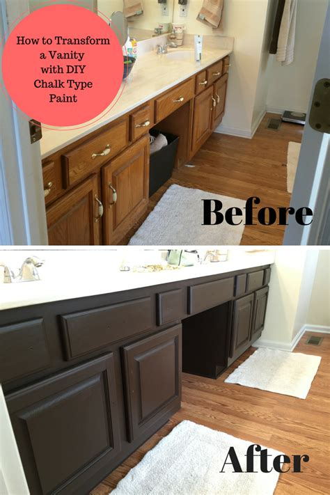 best type of paint for bathroom cabinets bathroom vanity transformation with diy chalk type paint