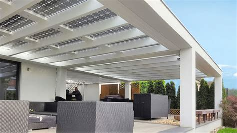 terrassendach alu freistehend terrassen 252 berdachung mit solar verschattung