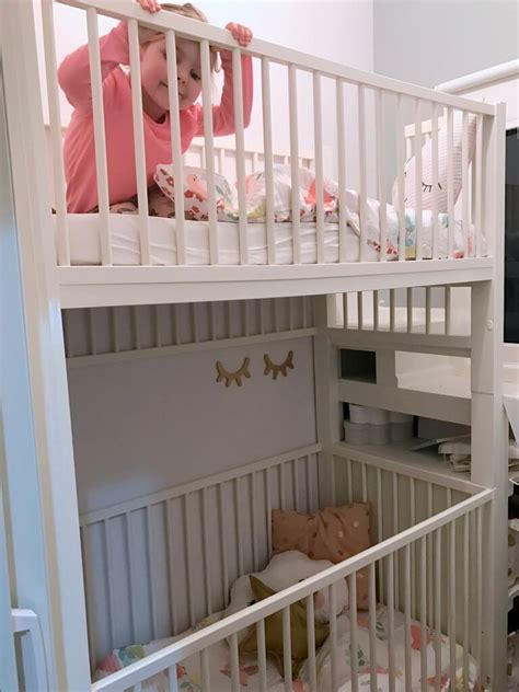 Crib Loft Bed by Crib Bunk Bed Hacked From Gulliver Cots