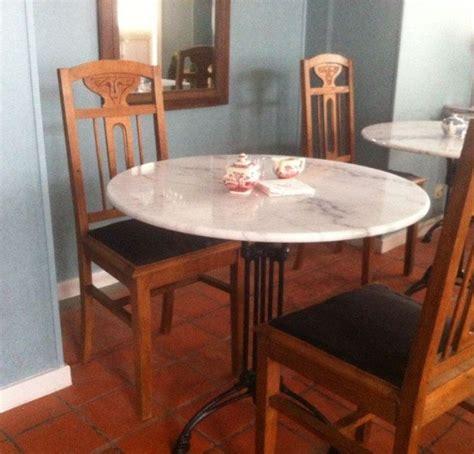 antieke bistrotafel tafel met marmeren blad fx63 belbin info
