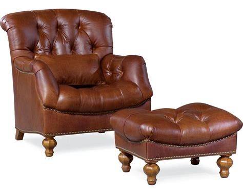 thomasville leather chair and ottoman ernest hemingway 174 walden ottoman leather thomasville