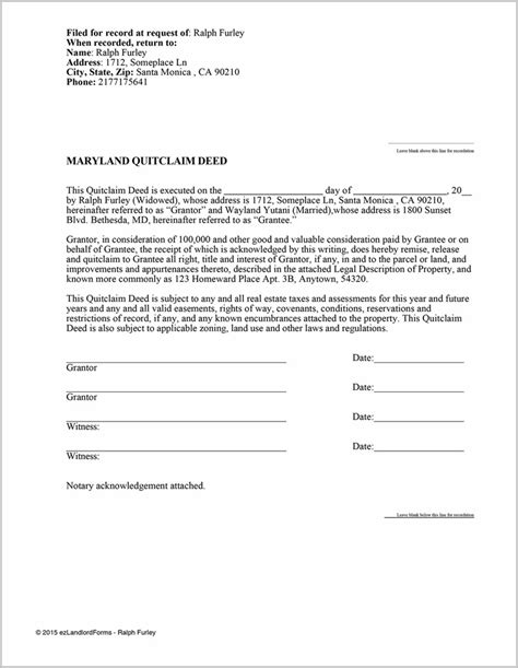 quit claim deed form cobb county ga form resume examples