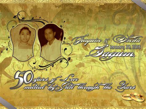 wedding tarp design by incuguy23 on deviantart wedding tarpaulin golden anniversary by cedricvillanada