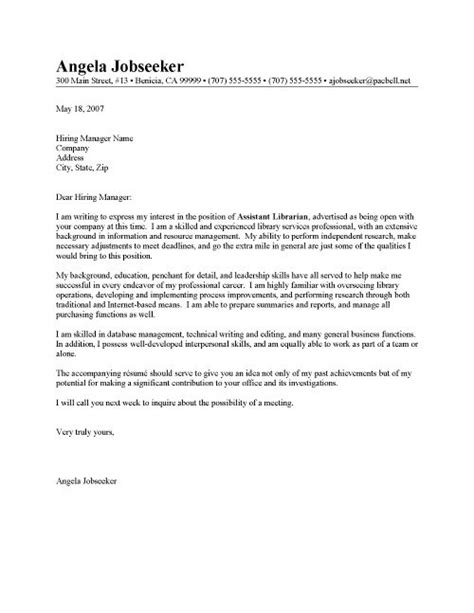 Cover Letter Librarian by Librarian Cover Letter Sle The Best Letter Sle